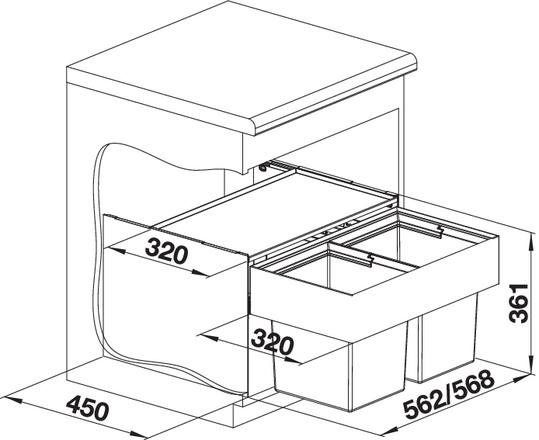 Blanco SELECT 60/2 Compact 523020