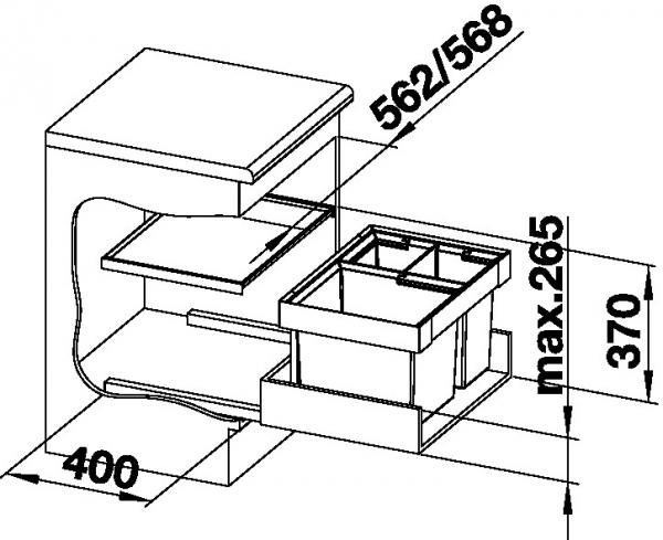Blanco FLEXON II XL 60/3 521473