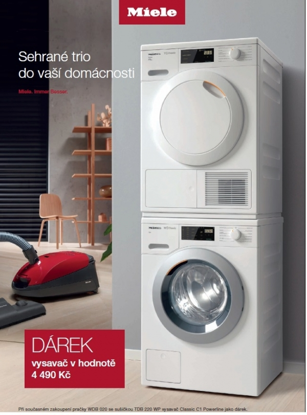 Set MIELE WDB020Eco + TDB220WP + dárek MIELE C1 Powerline