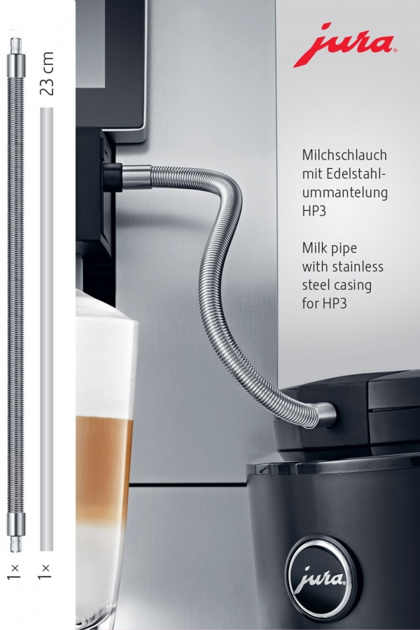 JURA Hadička na mléko s nerezovým opláštěním HP3