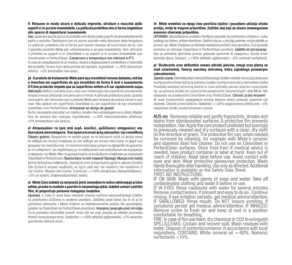 Miele prostředek pro péči o nerezové povrchy 2 l - GP CA ST 0252 L