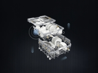 Miele  G 7310 SCi AutoDos  Nerez CleanSteel  - Košové uspořádání FlexLine C